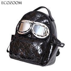 BaoBao Diamond Women Backpack Fashion Personality Glasses Female Bag Laser BAO  BAO Geometric Shoulder Bag Students 57968fe184873