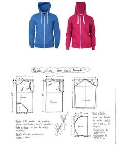 Amazing Sewing Patterns Clone Your Clothes Ideas. Enchanting Sewing Patterns Clone Your Clothes Ideas. Dress Sewing Patterns, Sewing Patterns Free, Clothing Patterns, Sewing Tutorials, Hoodie Pattern, Jacket Pattern, Fashion Sewing, Diy Fashion, Costura Fashion