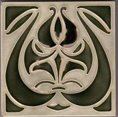 Originale Jugendstil Fliese art nouveau tile tegel NStG Deutschland