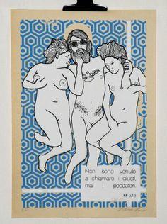 Matthew 9,13  30×43 cm  3 colour Screen Print  Numbered & Signed  2013  Edition 8 + 2 P.A  29 € Free Shipping