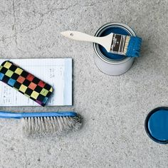 Painting concrete is easier said than done, you can't just pour a can of paint over your concrete floor and expect it to come out perfectly. Read our five-step guide from prepping to painting, to how to seal concrete so all your hard work lasts. Damp Basement, Basement Walls, Basement Flooring, Basement Remodeling, Basement Ideas, Basement Painting, Basement Laundry, Laundry Room, Basement Makeover