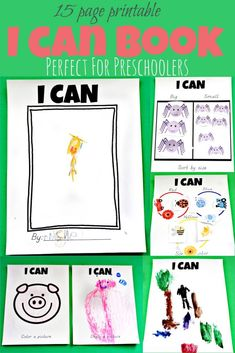 This printable 15 page I Can book is perfect for preschoolers to show off everything they can do themselves. This would be great for an all about me preschool theme week.