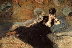 ArtArte Imagem Semanal: Leques http://arteseanp.blogspot.com Edouard Monet (1832-1883) Woman with Fan, 1843. Musée d'Orsay, Paris.