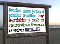 ❝Nuestros sueños parecen al principio imposibles (luego improbables) y cuando nos comprometemos firmemente: se vuelven inevitables.❞ ;)