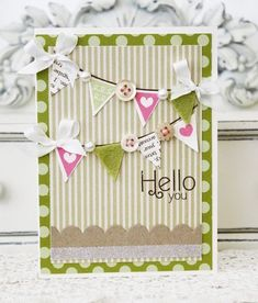 Stamper's First Aid - Hello Banner Card by Melissa Phillips for Papertrey Ink (July 2012)