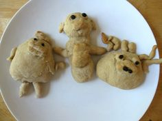 Monster bread :: making bread shapes with kids