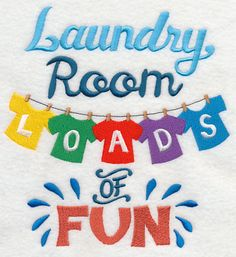 Laundry Loads of Fun design (L4277) from www.Emblibrary.com