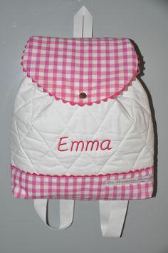 Sac à dos rose enfant personnalisé brodé : Sacs à dos, cartables par lbm-creation