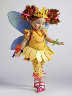 """Manufacturer's catalog image of 13"""" Bonjour Butterfly Fancy Nancy dressed doll, United States, 2009, by Robert Tonner."""
