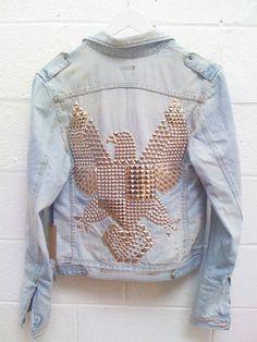 eagle jeans jacket - boho style