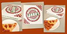 Custom designed take out #pizza boxes!  Created on ThePaperWorker.com as a present for a brick oven owner!  #BESTGIFTEVER http://www.thepaperworker.com/custom-boxes-corrugated