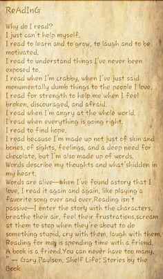 Why Do I Read?