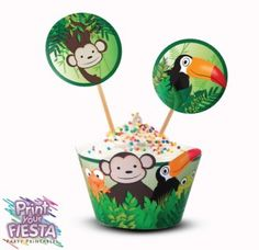 Jungle Party Cupcake Kit   Craft Project   YouCanMakeThis.com