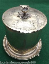 VINTAGE,ANTIQUE,SILVER,PLATE,BISCUIT,BARREL,MAPPIN,BROTHERS,PERIOD,TABLEWARE