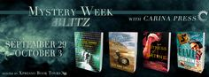 Jane Reads: Carina Press Mystery Week Blitz and Giveaway (ends 10/6 at midnight EDT). Featuring a Historical Mystery, a Detective Mystery, and two Cozy Mysteries. http://janereads2.blogspot.com/2014/10/carina-press-mystery-week-blitz-and.html#more