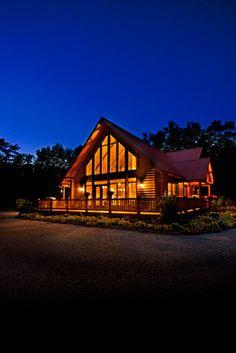 Beautiful Pella windows with insulating glass help save energy. Pella Doors, Pella Windows, Wood Windows, Cabin Homes, Log Homes, Cabin Design, House Design, Northern White Cedar, Energy Efficient Homes