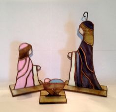 STAINED GLASS NATIVITY set Christmas by StainedGlassandPens