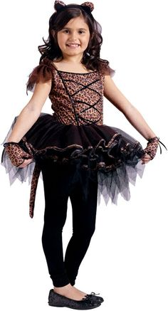 leopard ballerina girls costume let your little ballerina show off her wild side this halloween ballerina leopard girls costume includes tutu dress with