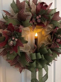 Your place to buy and sell all things handmade Christmas Wreath Primitive Wreath Burlap Wreath Christmas Wreaths With Lights, Holiday Wreaths, Simple Christmas, Rustic Christmas, Christmas Crafts, Christmas Decorations, Burlap Christmas Wreaths, Holiday Ideas, Christmas 2019