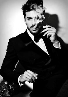 Mariano Di Vaio / Male Models Smoking Guy Black and White Photography . - Develop the sexual presence of a model! Click the pic.