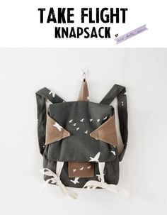 Free PDF Pattern: Take Flight Knapsack | by See Kate Sew | Birch Fabrics Blog