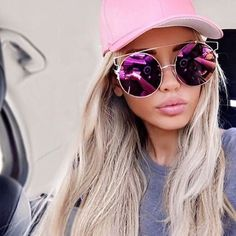 Cheap brand cat eye sunglasses, Buy Quality cat eye sunglasses directly from China cat eye sunglasses brand Suppliers: Coodaysuft 2017 New Fashion Oversized Cat Eye Sunglasses Women Brand Designer Stylish Cateye Sun Glasses Lady Rose Gold Eyewear Wayfarer Sunglasses, Sunglasses Women, Sunglasses Sale, Summer Sunglasses, Festival Sunglasses, Round Sunglasses, Circle Sunglasses, Trending Sunglasses, Vintage Sunglasses