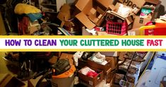 how to clean a cluttered messy house fast Declutter Your Home, Organizing Your Home, Getting Organized At Home, House Cleaning Checklist, Overwhelmed Mom, Messy House, Lazy People, Home Organization Hacks, Working Moms