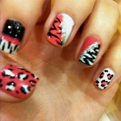 Fun animal print nails