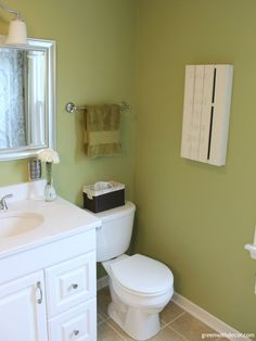 Green With Decor - Decorating the bathroom walls