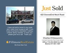 Buying or Selling Brooklyn real estate call Charles D'Alessandro Your Brooklyn Realtor® at Fillmore Real Estate go to                 www.CharlesTheBrooklynRealtor.com