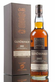 A 2003 vintage GlenDronach, aged for 12 years in total, bottled as part of GlenDronach's annual batch of special single casks. 714 bottles have been filled from single cask #934, bottled at cask strength, 53.7% vol.