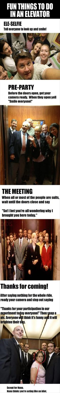 fun things to do in an elevator