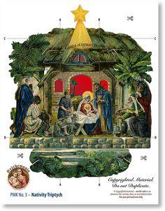Nativity Triptych Sheet - PaperModelKiosk.com