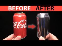 Lifehacks, Remover Tinta, Coke Can Crafts, Polishing Aluminum, Ink Removal, Copper Wire Crafts, Soda Can Art, Aluminum Can Crafts, Coca Cola Can