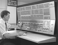 IBM 360 Model 75 computer's Console (1967)