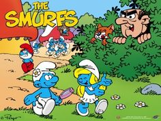 Smurfs - I have a stuffed Smurfette I gave to my daughter. She thinks it's great since the smurfs came out. Best 90s Cartoons, Classic Cartoons, Retro Cartoons, Fraggle Rock, Smurfette, Saturday Morning Cartoons, 80s Kids, Kids Tv, Old Tv Shows