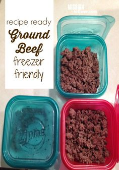 Check out my tip for how to easily make freezer friendly, recipe ready ground beef.