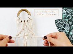 Create a diamond shaped pattern using a diagonal double half hitch knot