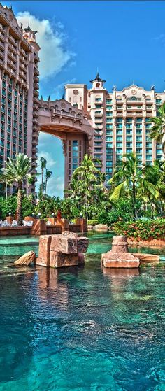 Atlantis Paradise Island is a resort & waterpark in the Bahamas • photo: Timothy Lowry on FineArtAmerica
