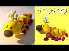 TUTO FIMO | Wiggler (de Mario) polymer clay tutorial