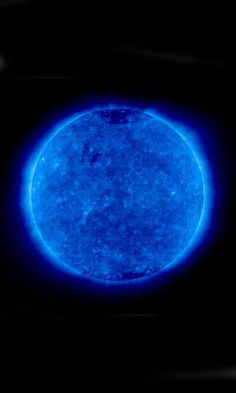 Blue Sun...? Photo from Nasa. Hippie trippy from our government. Now I know what they do with all that tax money... I think?