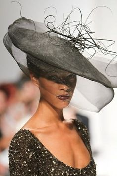 A river runs through it by MARIE GALVIN #millinery #HatAcademy #hats