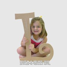 Unfinished Letters Curlz Paintable Large Letter 24''Wall Decor (L) wall hanging wooden letter build-a-cross.com $7.25