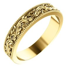 An intricately and beautifully designed women's sculptural paisley wedding band ring, crafted from solid yellow gold, from Apples of Gold Jewelry. The paisley band measures wide. Wide Wedding Bands, Wedding Men, Unique Mens Wedding Bands, Boho Wedding, Wedding Decor, Antique Wedding Rings, Gold Wedding Rings, Victorian Engagement Rings, Victorian Ring