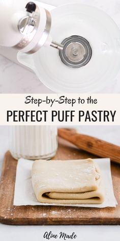 An easy recipe for homemade rough puff pastry! Flour, butter, salt, and water, that's all you need to make this rough puff pastry recipe! Suitable to use for savory or sweet recipes calling for puff pastry! Easy Puff Pastry Recipe, Pastry Dough Recipe, Puff Pastry Dough, Puff Recipe, Danish Dough Recipe, Recipes Using Puff Pastry, Puff Pastry Recipes Savory, Puff Pastry Desserts, Baking And Pastry