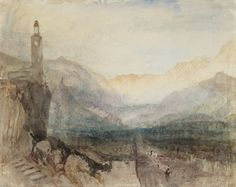 Joseph Mallord William Turner, The Pass of the Splügen: Sample Study, c.1841-2 Graphite And Watercolour On Paper 243 x 304 mm © Tate, London 2014