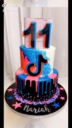 40th Birthday Cupcakes, Girly Birthday Cakes, Birthday Cakes For Teens, Happy Birthday Sister, Teen Cakes, Girl Cakes, Dream Cake, Edible Art, Pretty Cakes