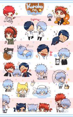 it's cute . and funny xD Kuroko Chibi, Kagami Kuroko, Chibi Anime, Anime Fnaf, Kawaii Chibi, Kawaii Anime, Anime Guys, Anime Art, Kuroko No Basket Characters