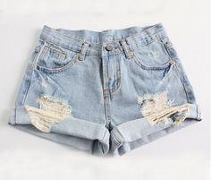 DIY high waisted shorts, so simple!