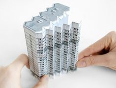 "BRUTAL EASTBuild Your Own Brutalist Eastern BlocFrom the functionalist panelák estates to the otherworldly concrete grand designs, the charm of the former Eastern Bloc architecture is certainly brutal.""Brutal East"" by Zupagrafika is a kit of illustra… Kirigami, 3d Building Models, Brutalist Buildings, Paper Art, Paper Crafts, Central And Eastern Europe, Cardboard Paper, Grand Designs, Paper Models"